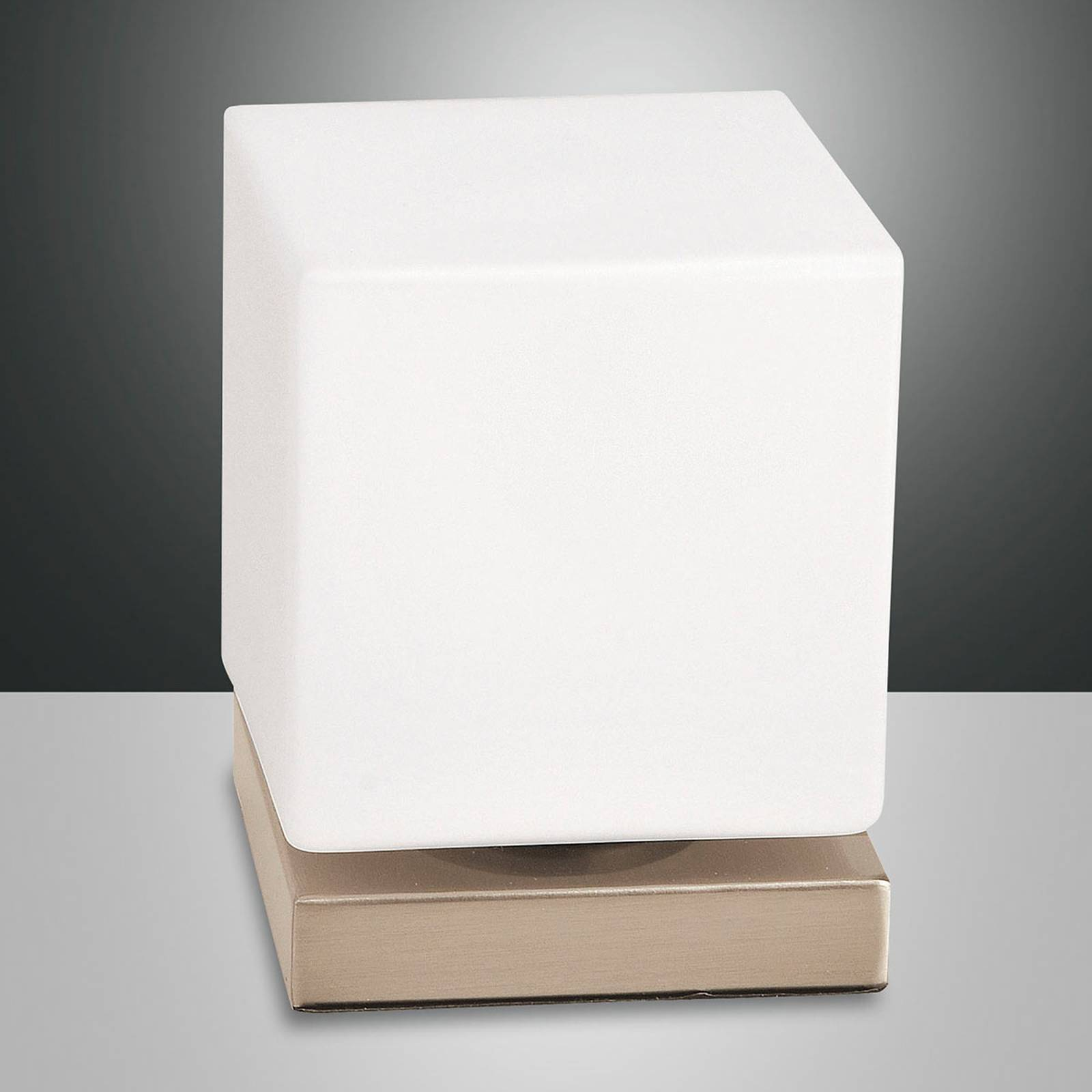 Kosketushimmennin LED-pöytälamppu Brenta kulta