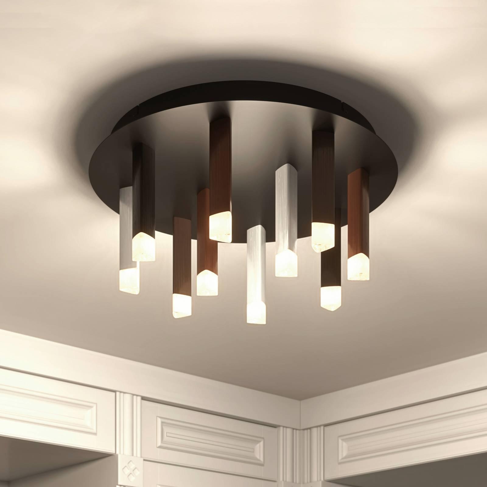 Lucande Stoika -LED-kattovalaisin, pyöreä