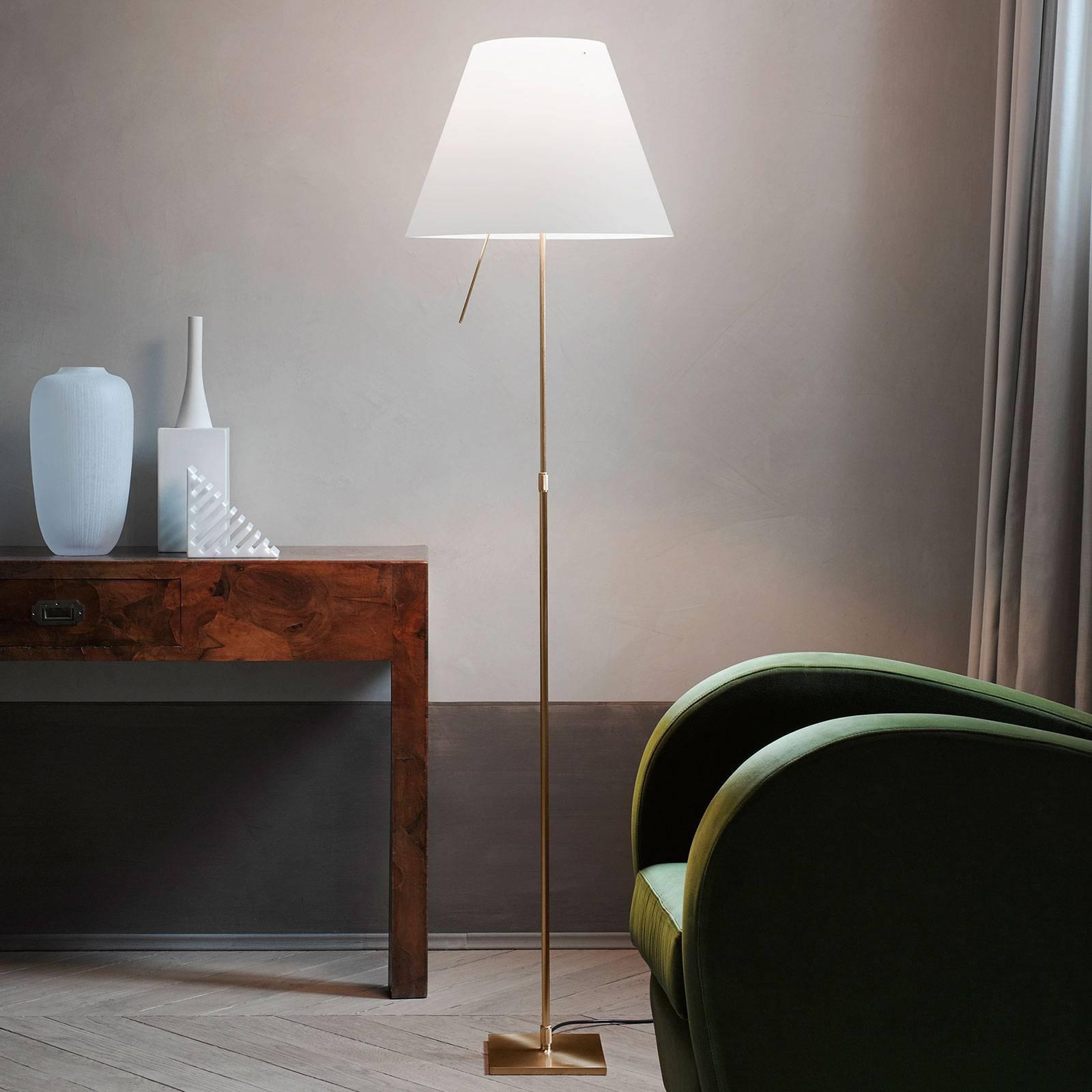 Luceplan Costanza gulvlampe D13t, messing/hvit