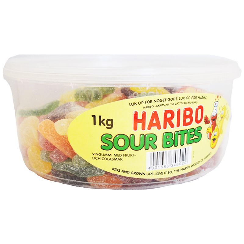 """Godis """"Sour Bites"""" 1kg - 38% rabatt"""