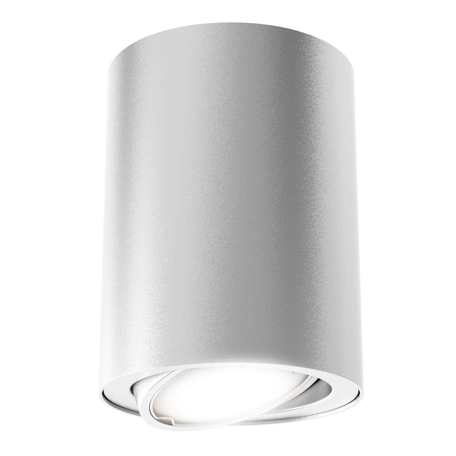 LED-taklampe 7119 med GU10 LED, sølv