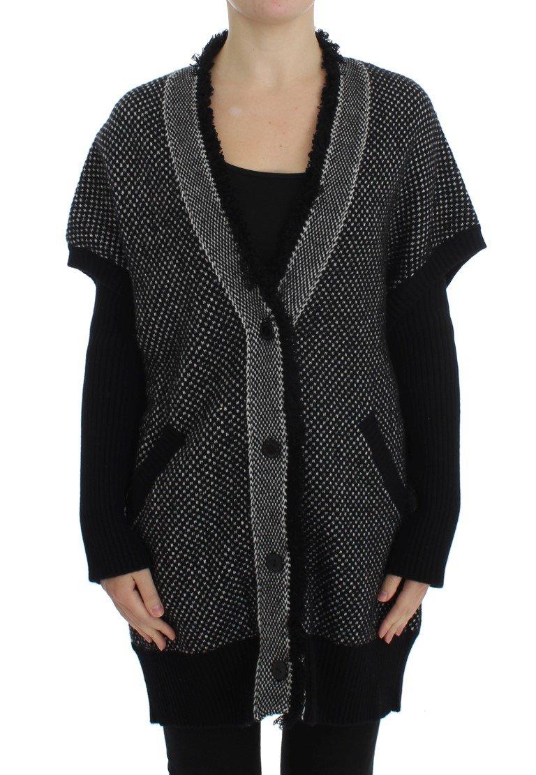 Dolce & Gabbana Women's Knitted Cashmere Cardigan Gray SIG20501 - IT46|XL