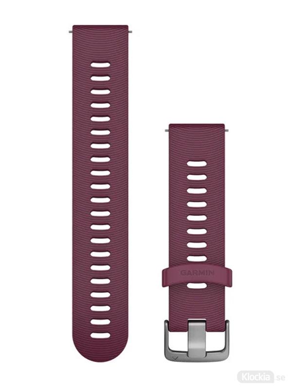 Garmin 20mm Bärfärgat silikonarmband med spännen i rostfritt stål