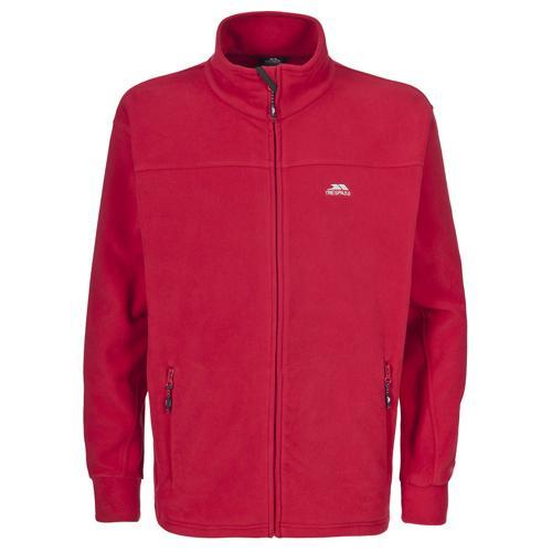 Trespass Men's Heavyweight Zip Fleece Various Colours Bernal - Red S