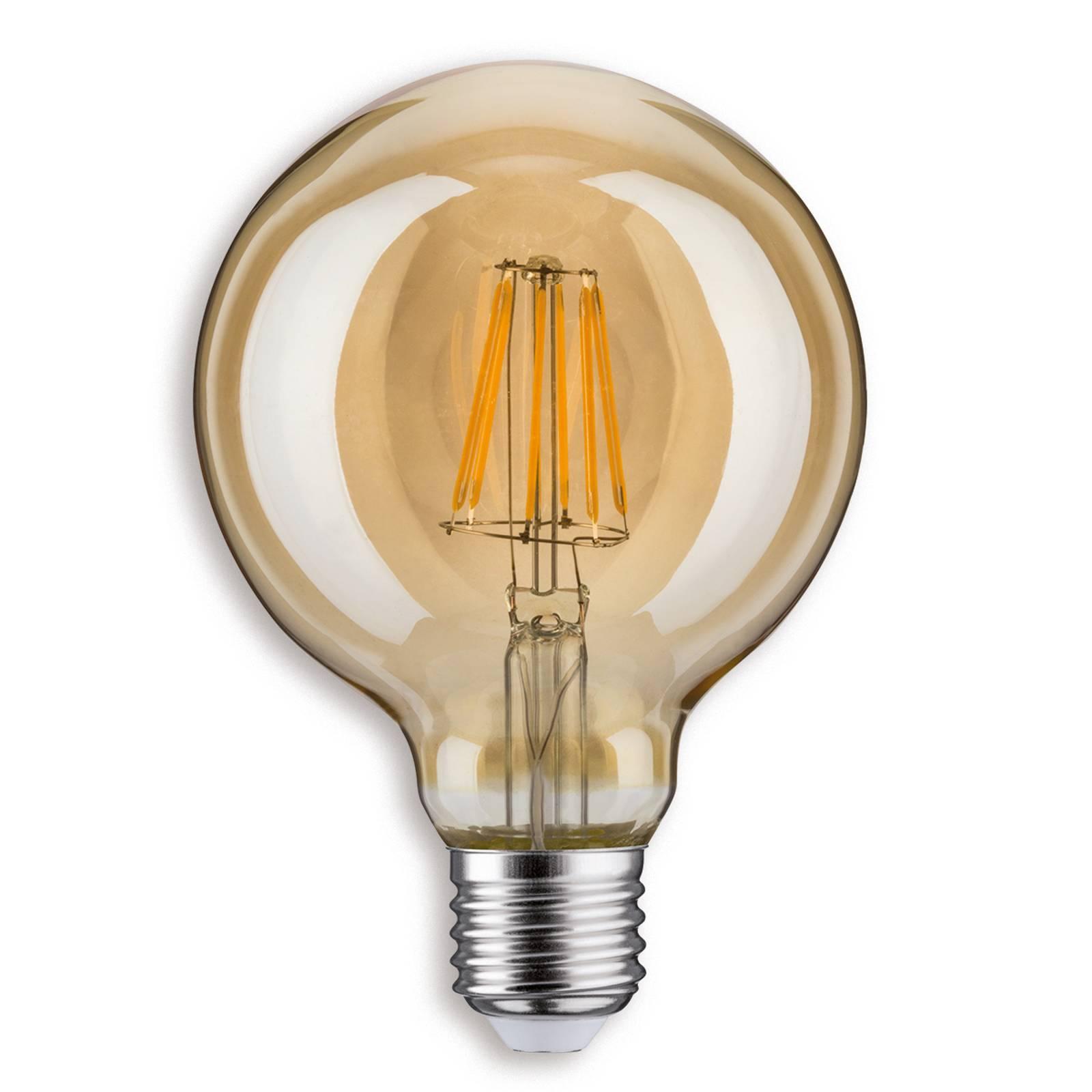 E27 7,5 W 825 LED-pallolamppu G95 kulta