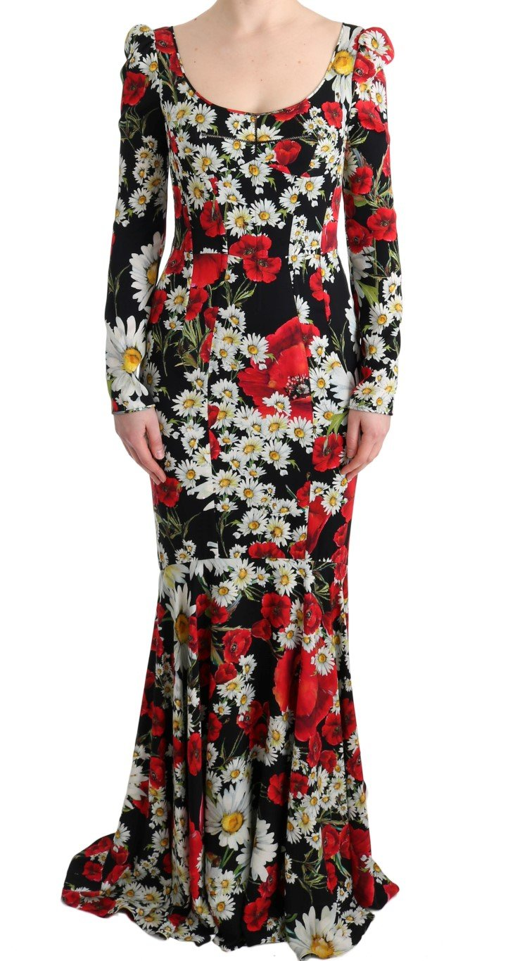Dolce & Gabbana Women's Silk Floral Silk Stretch Dress Multicolor SIG60624 - IT40|S