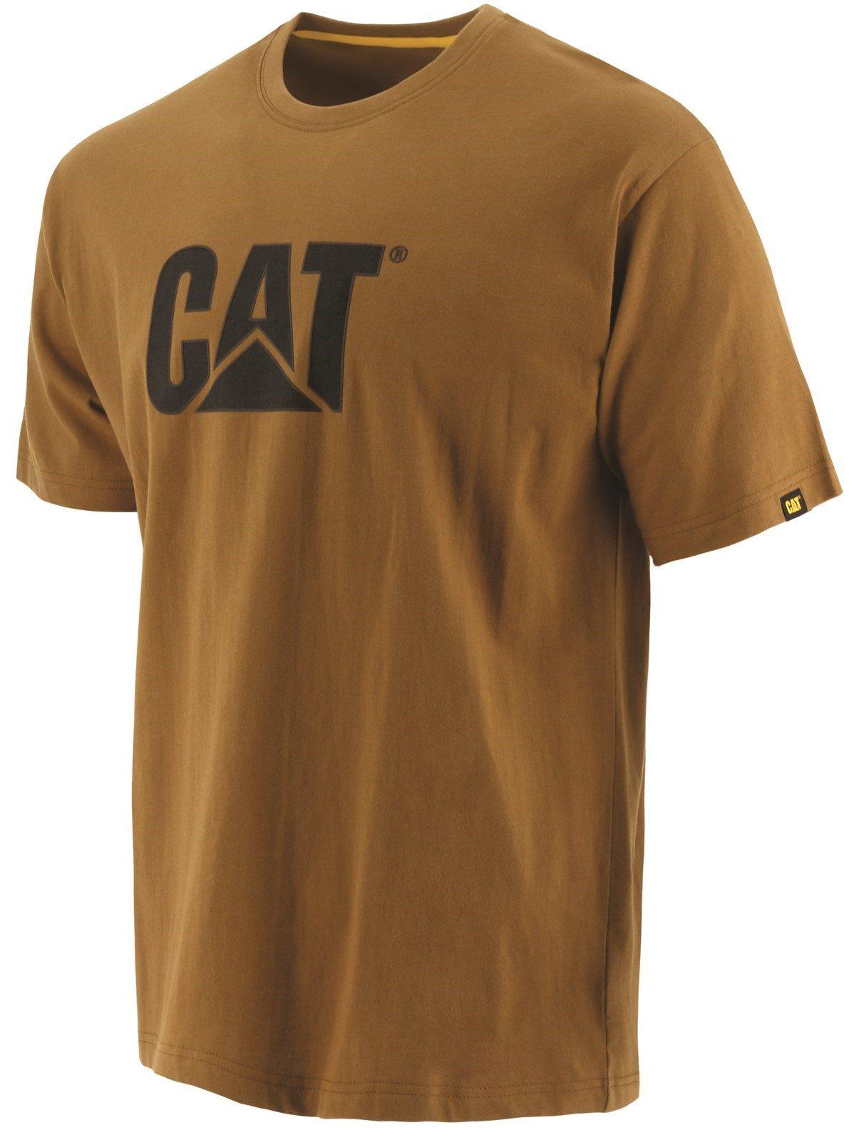 Caterpillar Unisex Trademark Logo T-Shirt Various Colours 25301 - Bronze XX