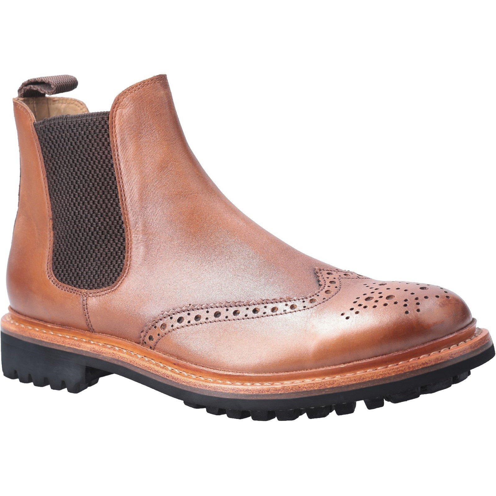 Cotswold Men's Siddington Commando Goodyear Welt Boot Brown 29259 - Brown 12