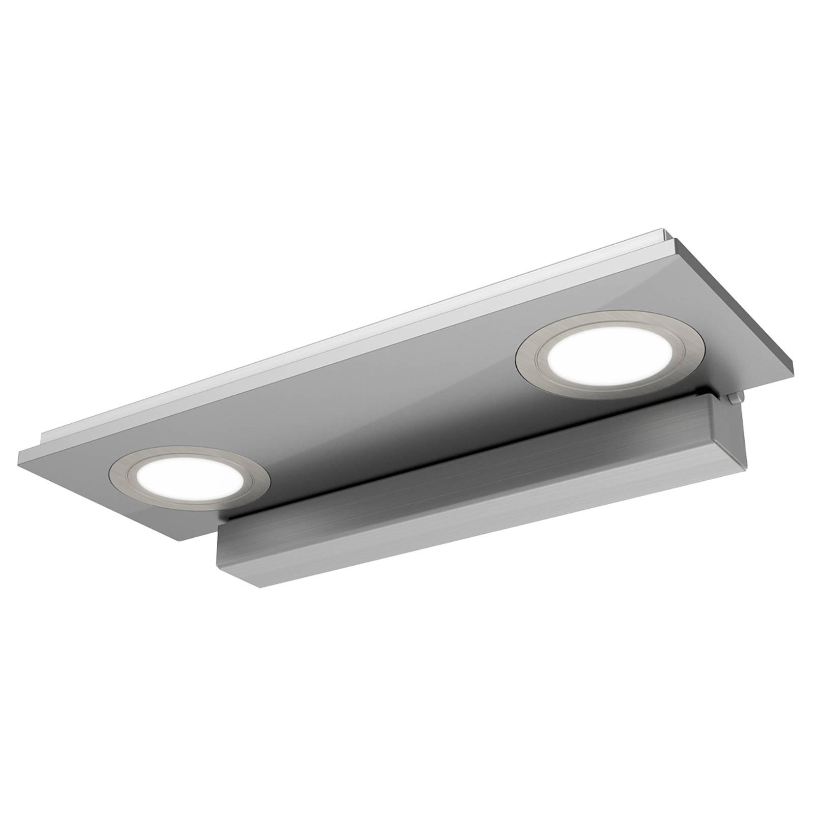 2-osainen Pano-LED-seinävalaisin, metalli
