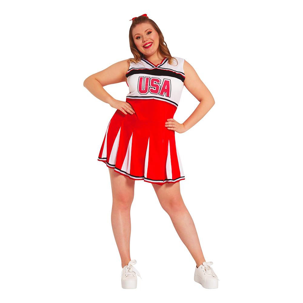 Cheerleader USA Plus-size Maskeraddräkt - Plus-size