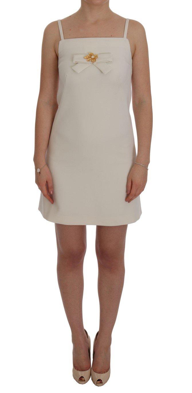 Dolce & Gabbana Women's Wool Stretch Shift Dress White SIG60226 - IT36   XS