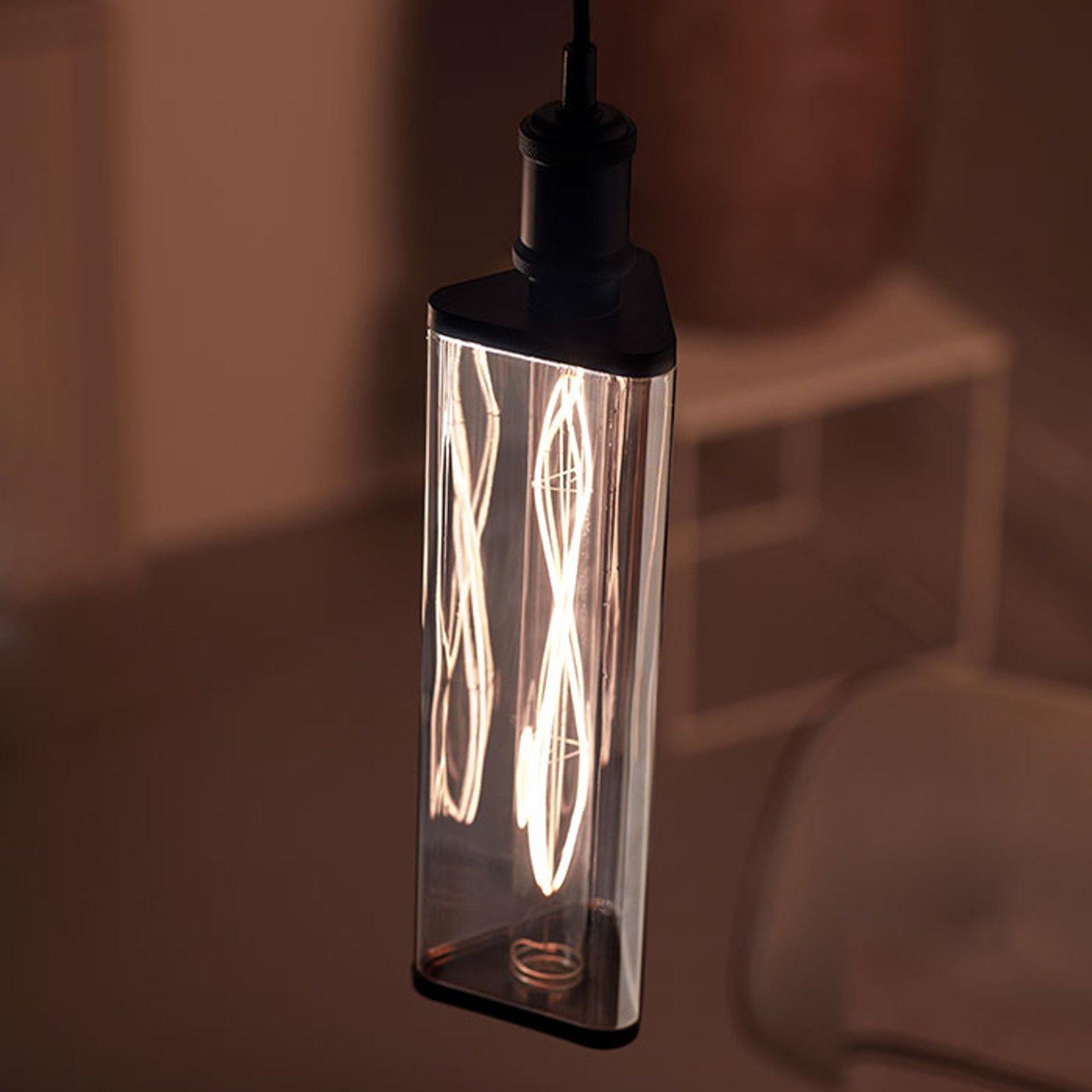 Philips Crystal Giant Smoky LED-pære E27 6,5 W