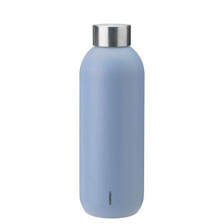 Keep Cool vacuum drinking bottle, 0,6 l. - lupin/steel