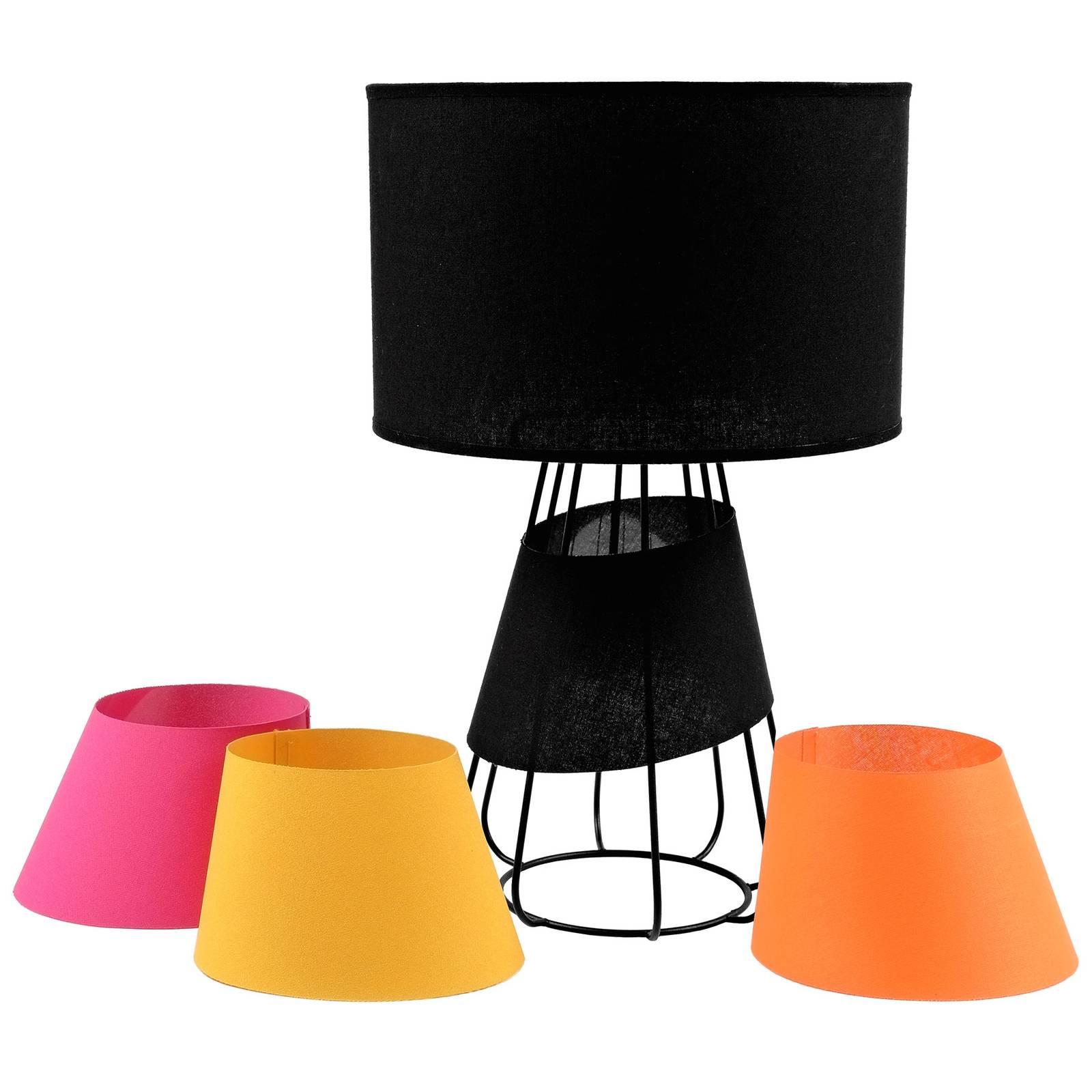 Pöytälamppu Patrizia, musta