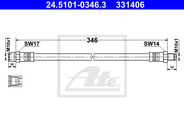 Jarruletku ATE 24.5101-0346.3