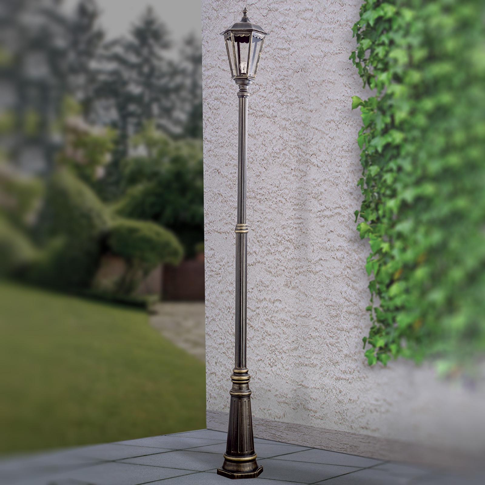 Ruskea lyhtypylväs Fabio, 1-lamppuinen 211 cm
