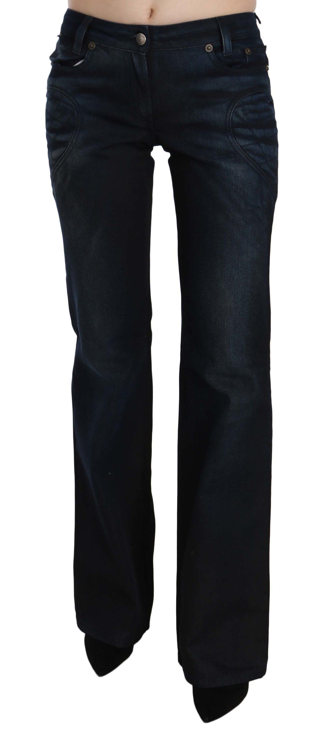 Just Cavalli Women's Mid Waist Straight Denim Trouser Blue PAN70375 - W26