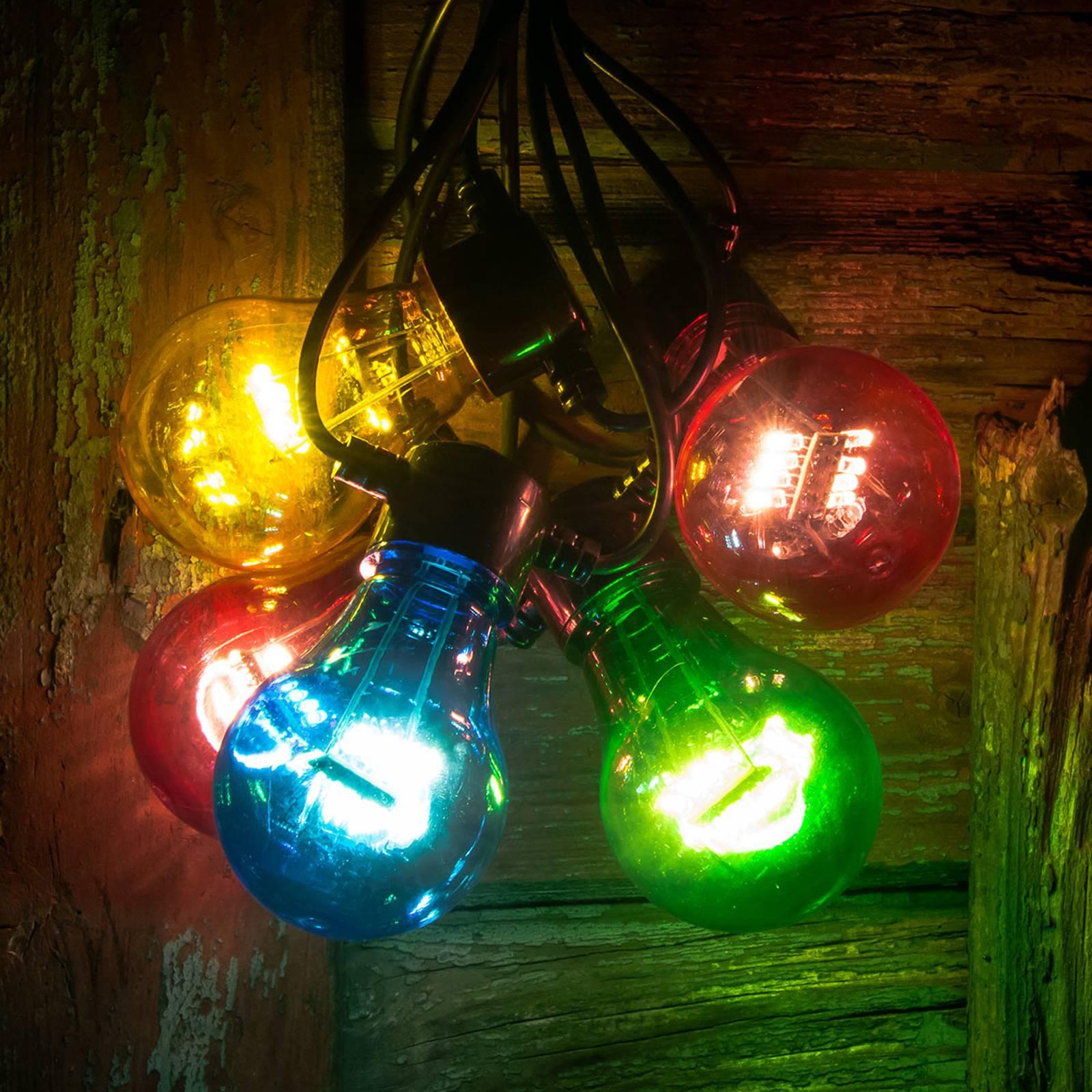 LED-valoketju hehkuoptiikka värikäs 5-lampp.