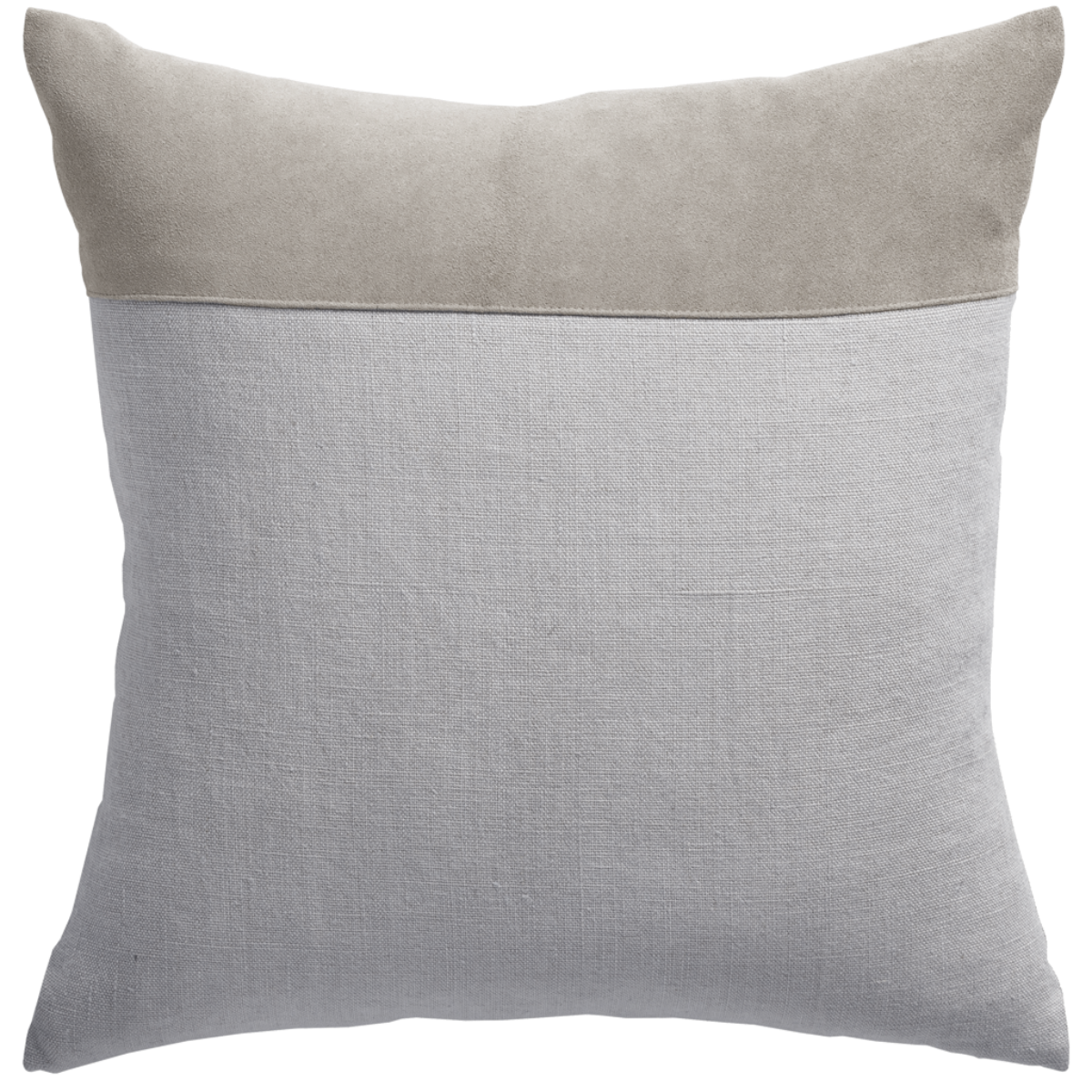 de Le Cuona | Bracken Cushion With Suede Panel Mushroom