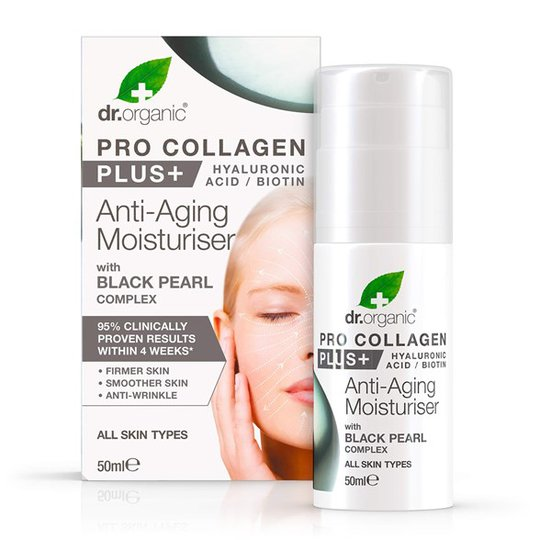 Dr. Organic Pro Collagen Black Pearl Anti-Aging Moisturiser