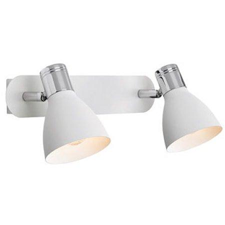 Huseby Vegglampe 2 Lys Krom/Hvit