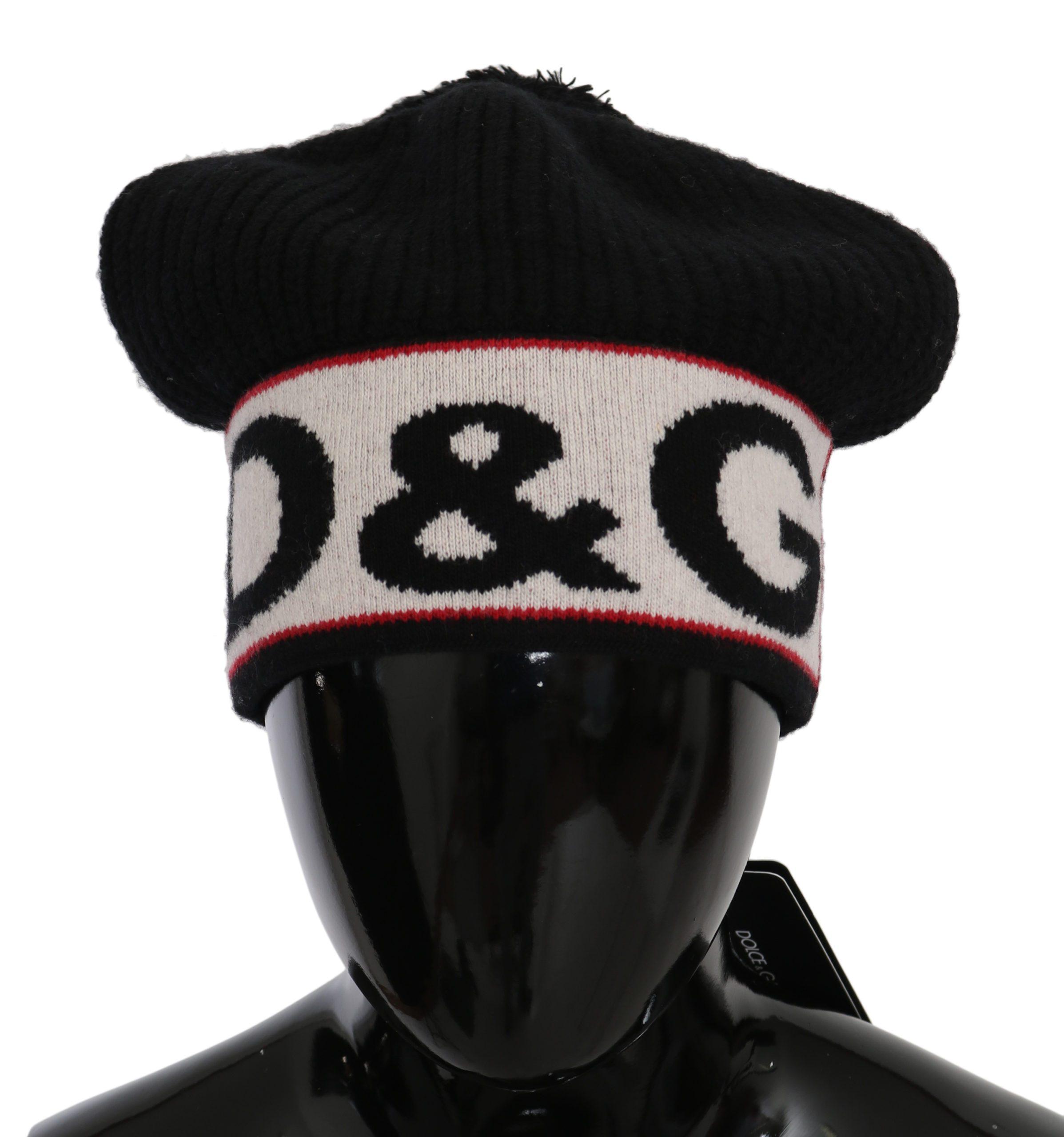 Dolce & Gabbana Men's Virgin Wool Knitted Beanie Hat Black 294208460067