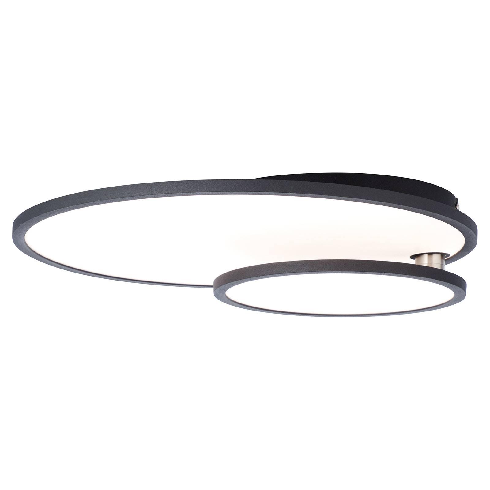 LED-kattovalaisin Bility, pyöreä, musta kehys