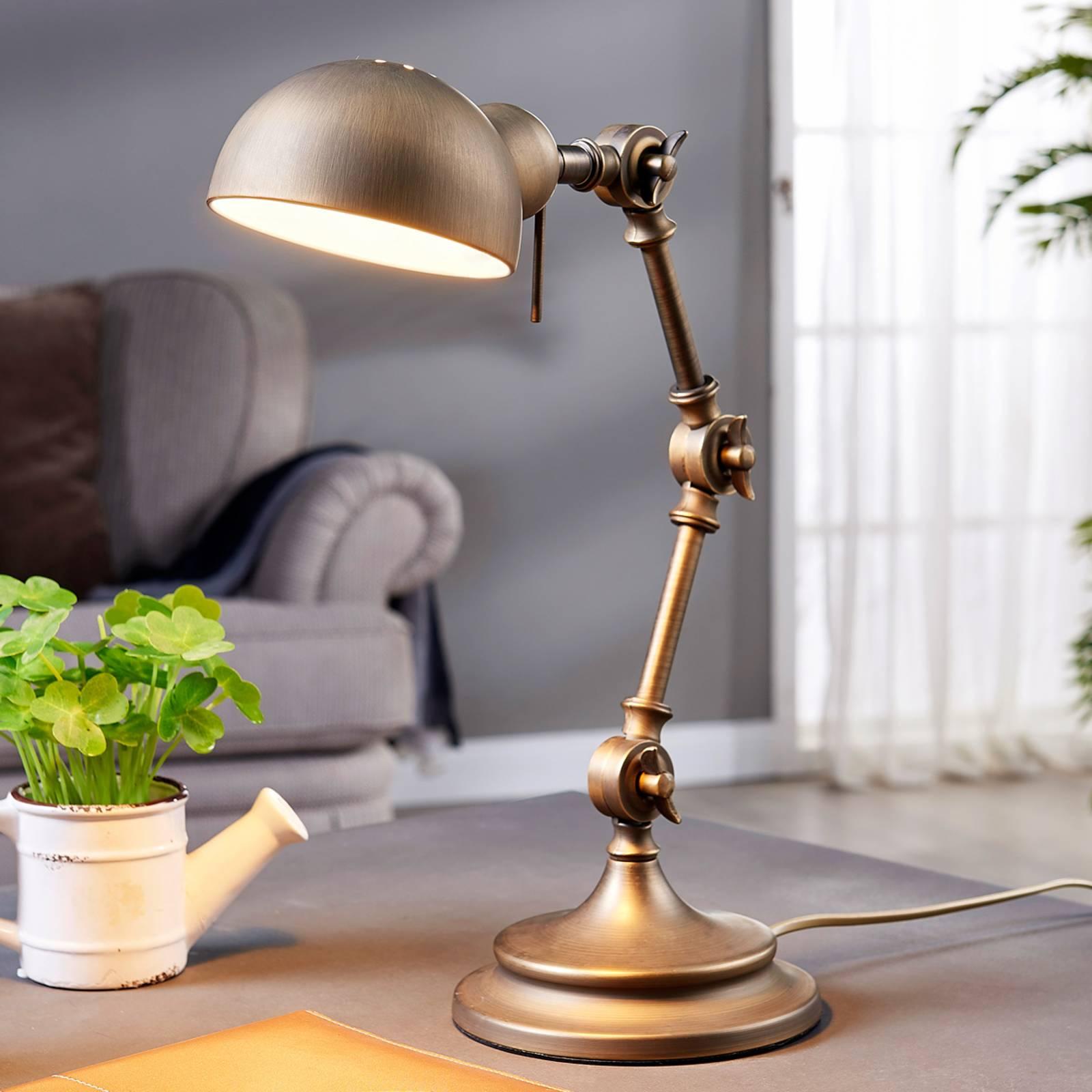 Ellisen – pronssinvärinen työpöytälamppu
