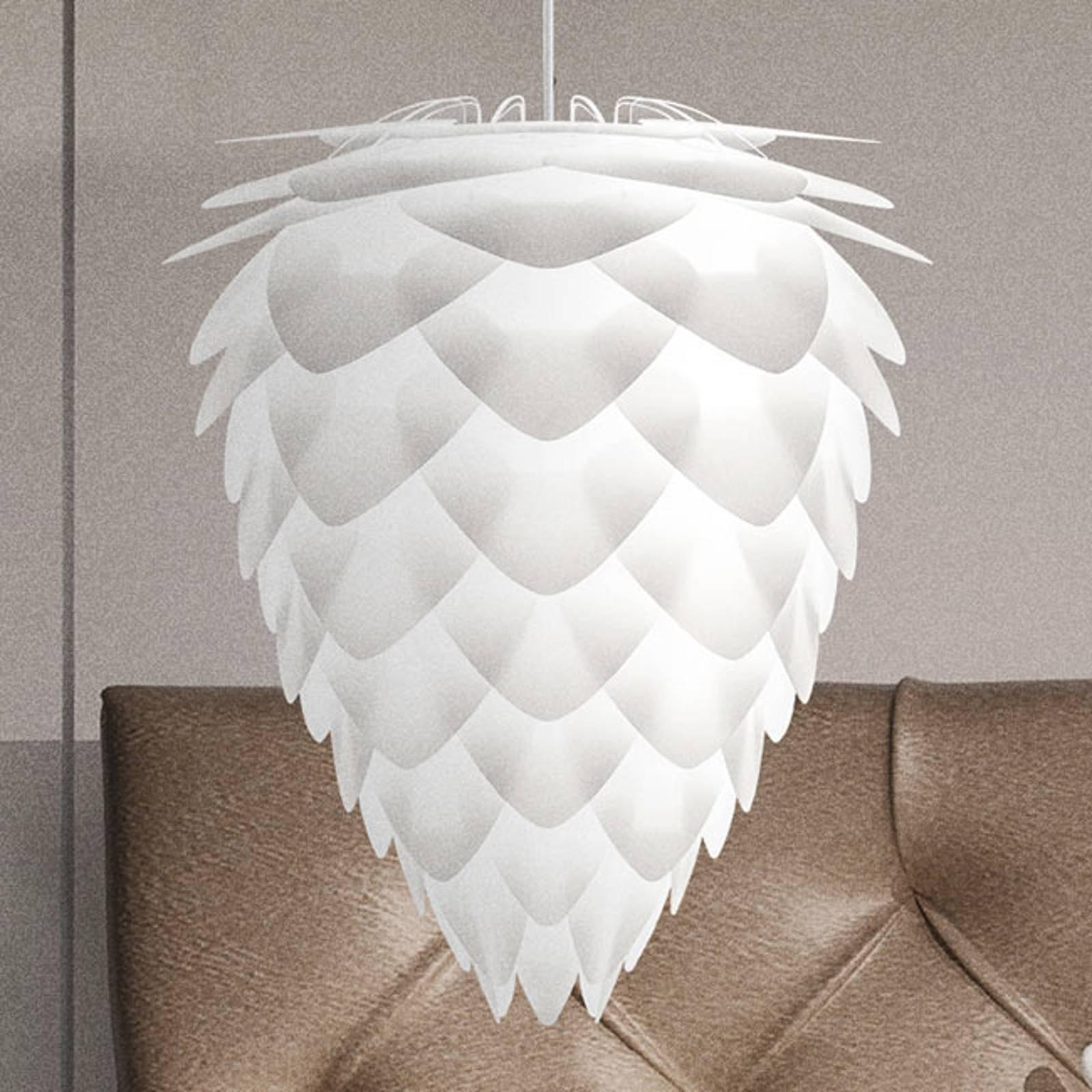 Conia medium - effektfull pendellampe i hvitt