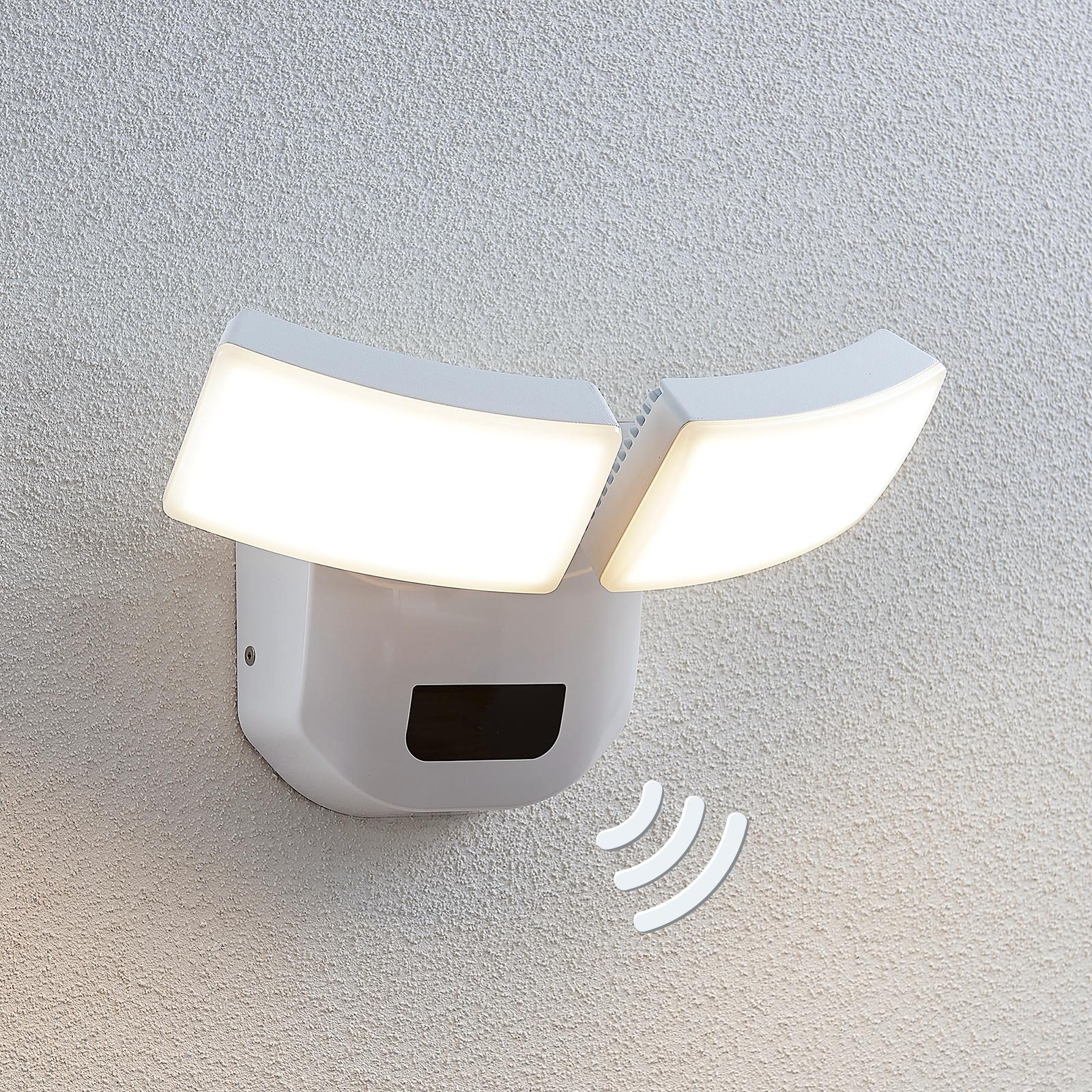 LED-ulkoseinälamppu Nikias, anturi, 2-lamppuinen