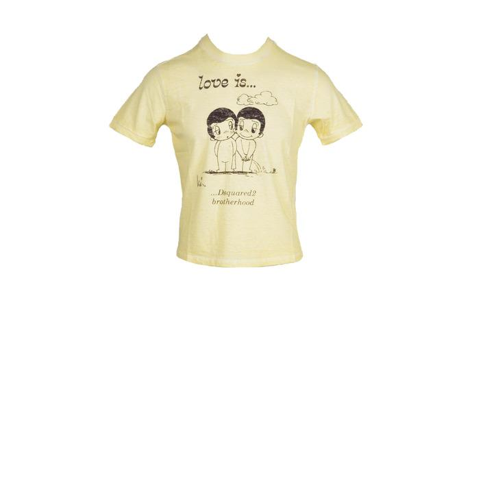 Dsquared - Dsquared Men T-Shirt - yellow M