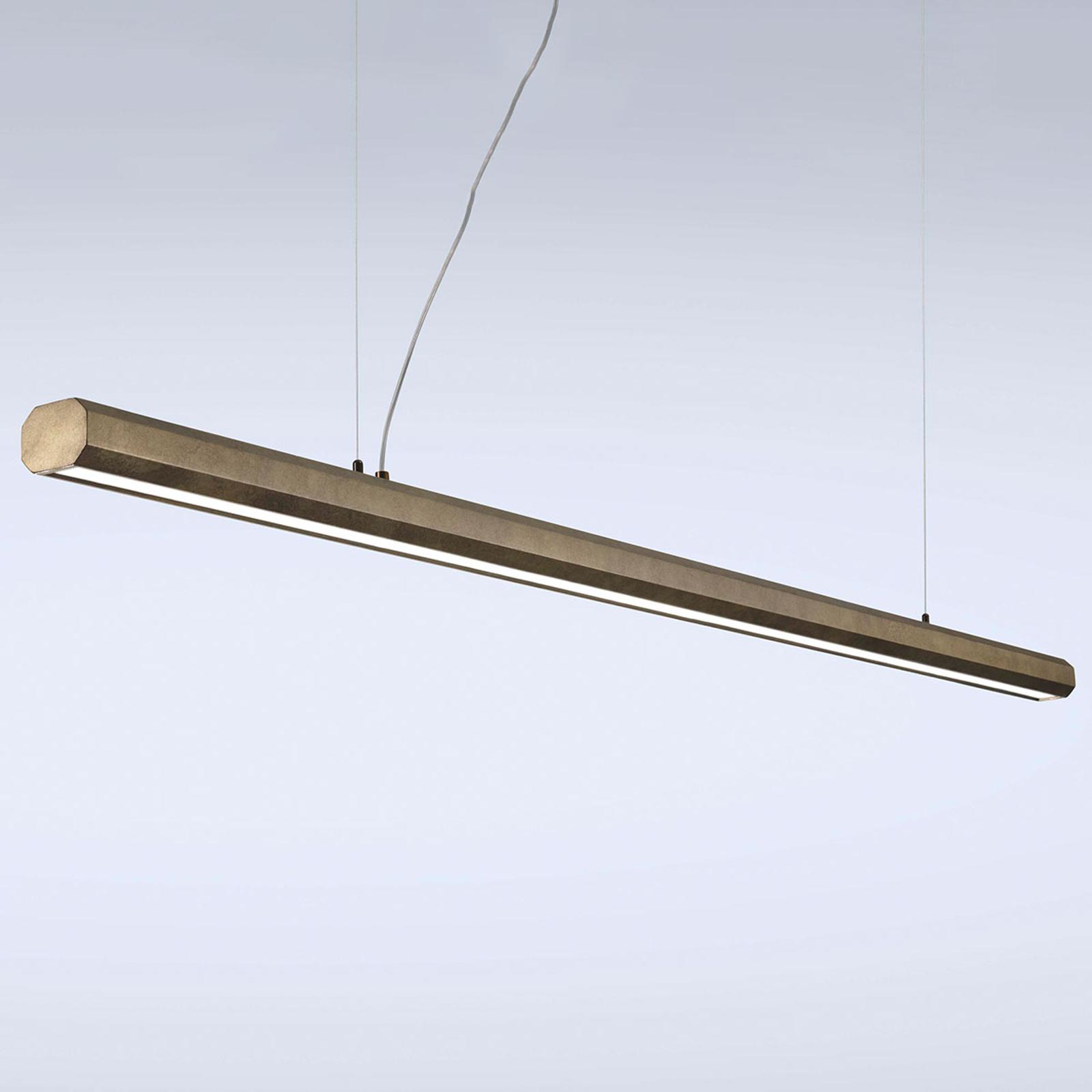 LED-riippuvalaisin Materica, tanko 200 cm messinki
