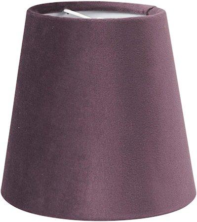 Queen Lampeskjerm Fløyel Lilla 12 cm