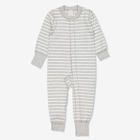 Stripet dress baby gråmelange