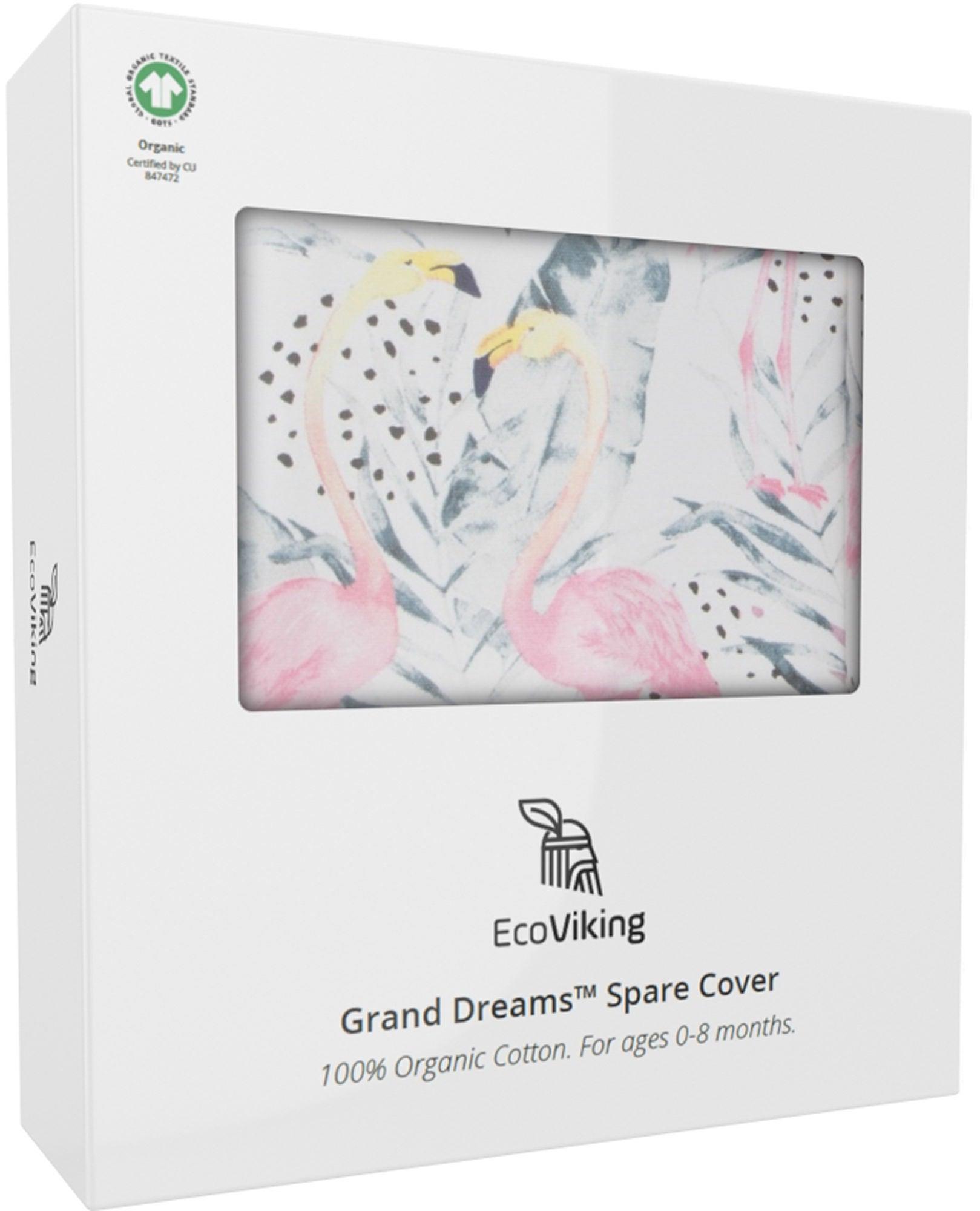 EcoViking Organic Babynest Cover Flamingo Dreams