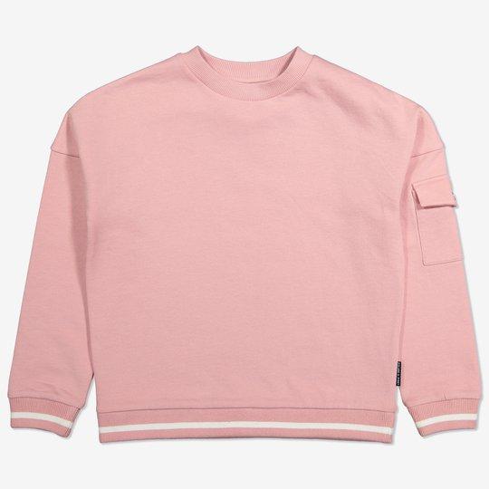 Sweatshirt med nedsenket skulder rosa