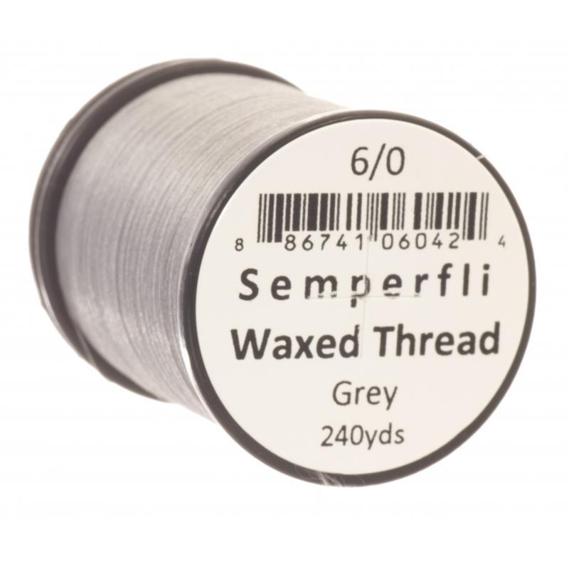 Semperfli Classic Waxed Thread Grey 6/0