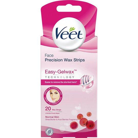Veet Ready-to-Use Wax Strips for Face, Veet Kasvojen ihokarvat