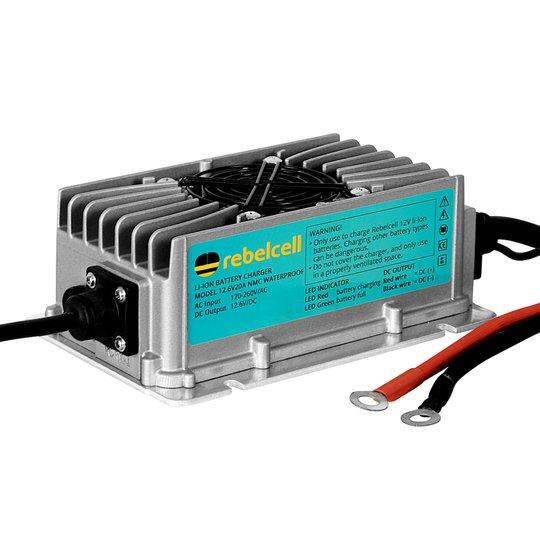 Rebelcell 20A 12V vattentät litiumladdare