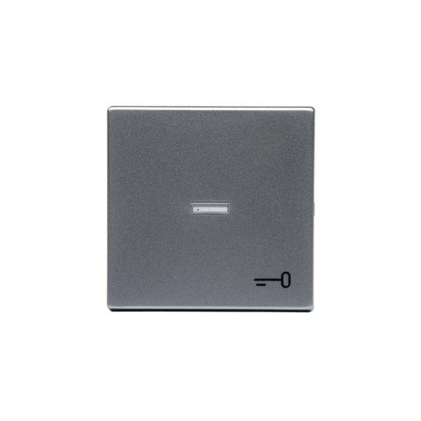 ABB 1789TR-83 Enkeltvippe 1-veis, hvit linse, nøkkel Aluminium
