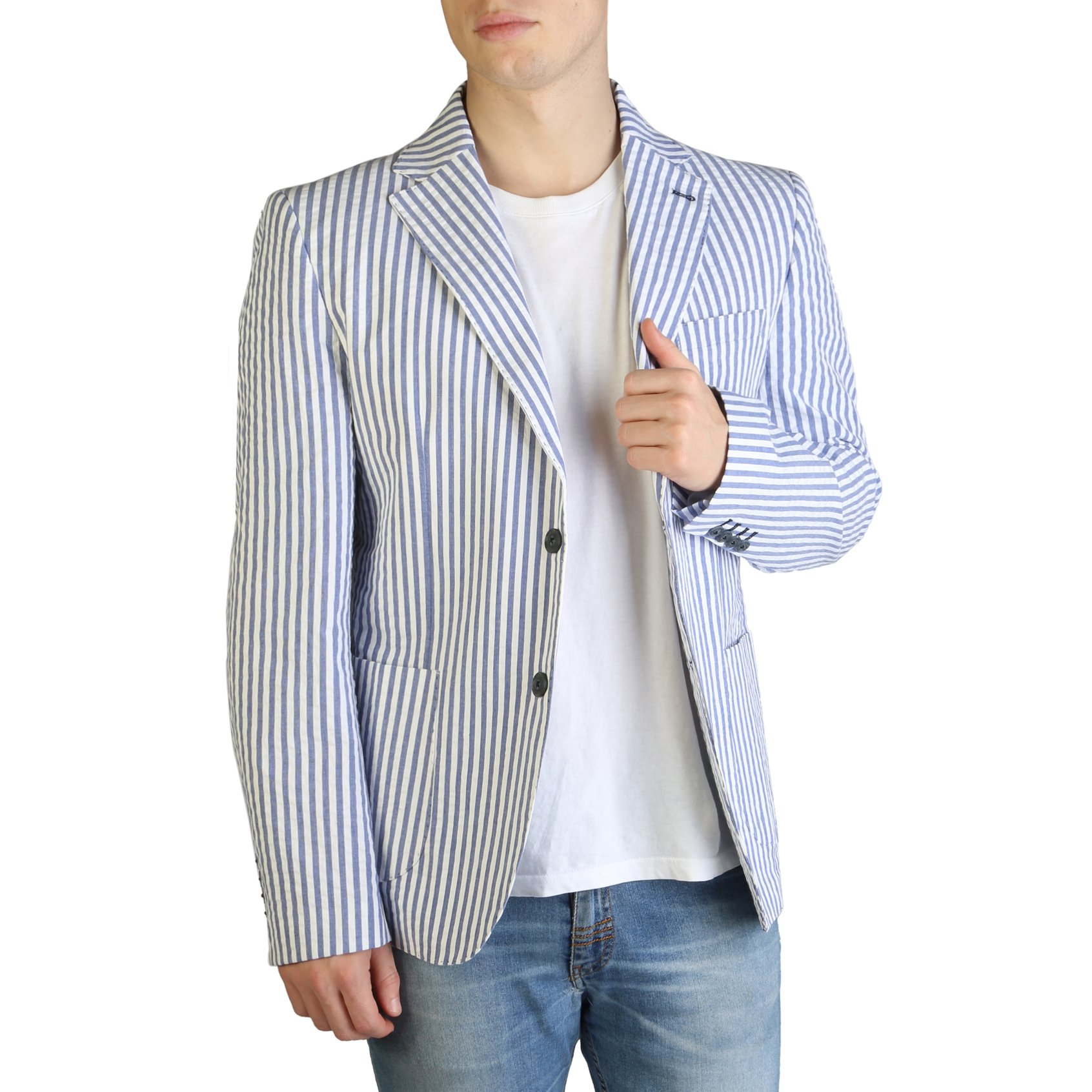 Yes Zee Men's Formal Jacket Various Colours G501_DB00 - blue 44