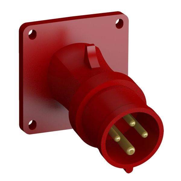 ABB 2CMA102312R1000 Panelinntak hurtigtilkoblet, vibrasjonsbestandig Vinklet, 4-polet, 16 A