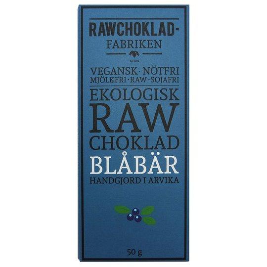 Rawchokladfabriken Ekologisk Rawchoklad Blåbär 73%, 50 g
