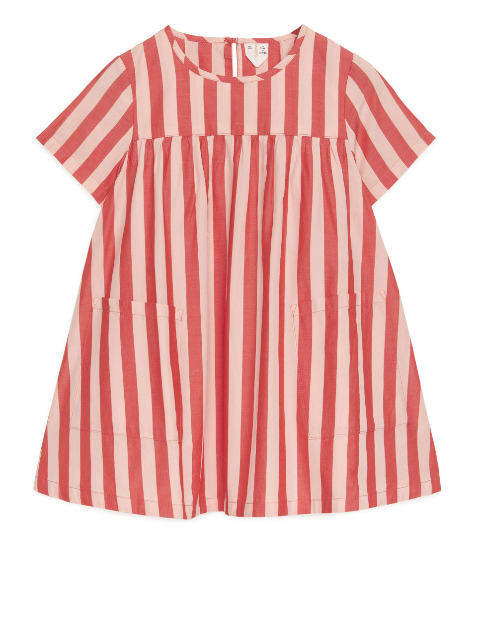 Pima Cotton Poplin Dress - Red