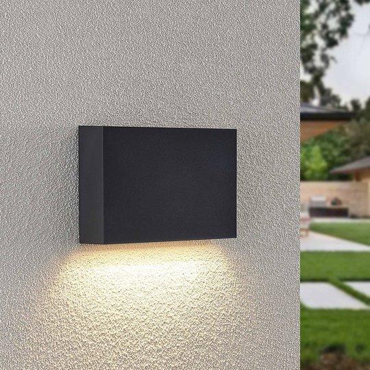 Lindby Jarte utendørs LED-vegglampe, 20 cm down