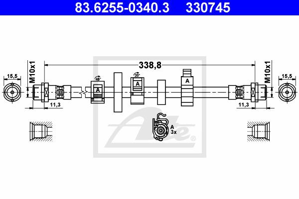 Jarruletku ATE 83.6255-0340.3
