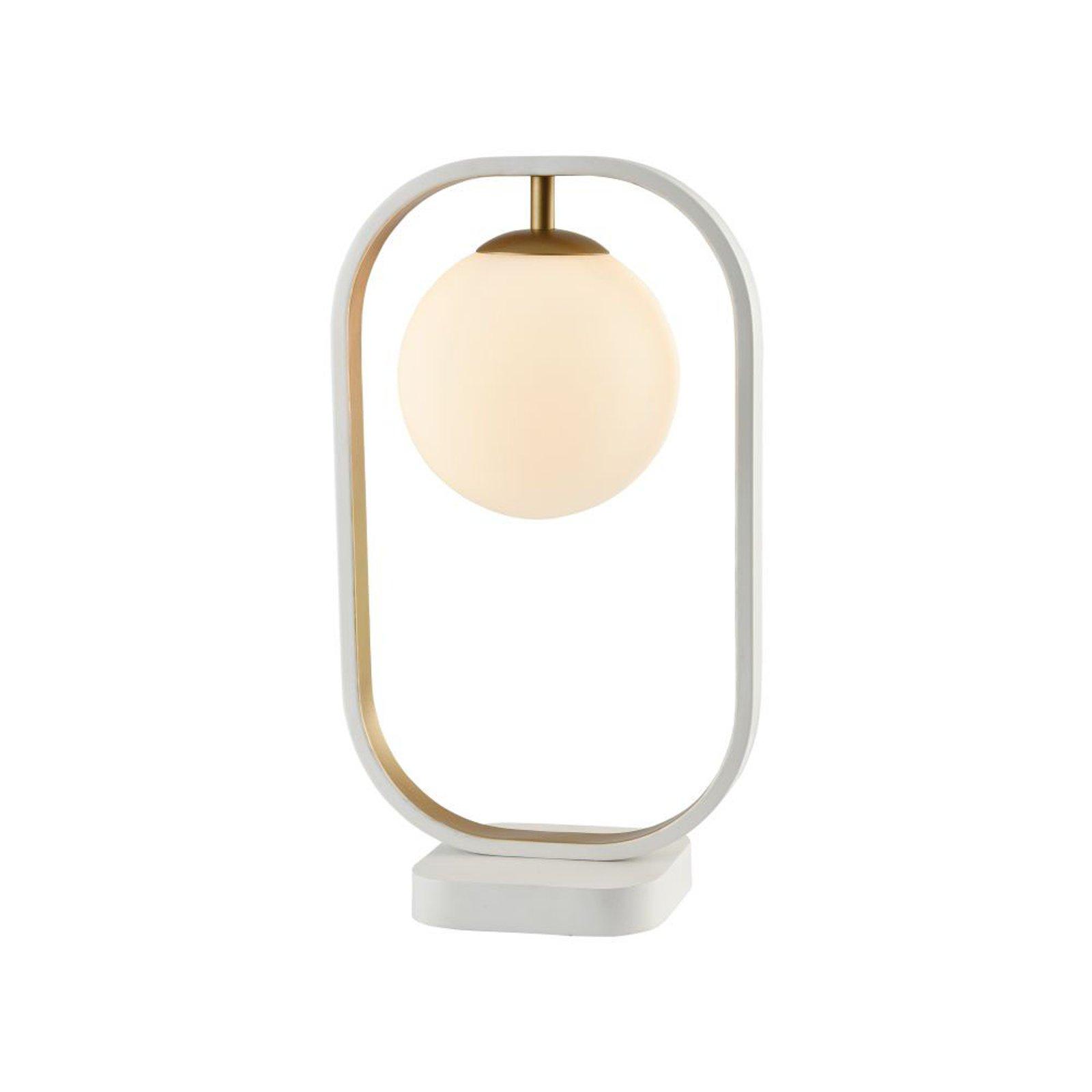 Avola bordlampa med kuleskjerm av glass