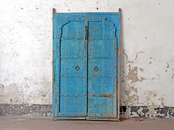 Blue Antique Rajasthani Doors