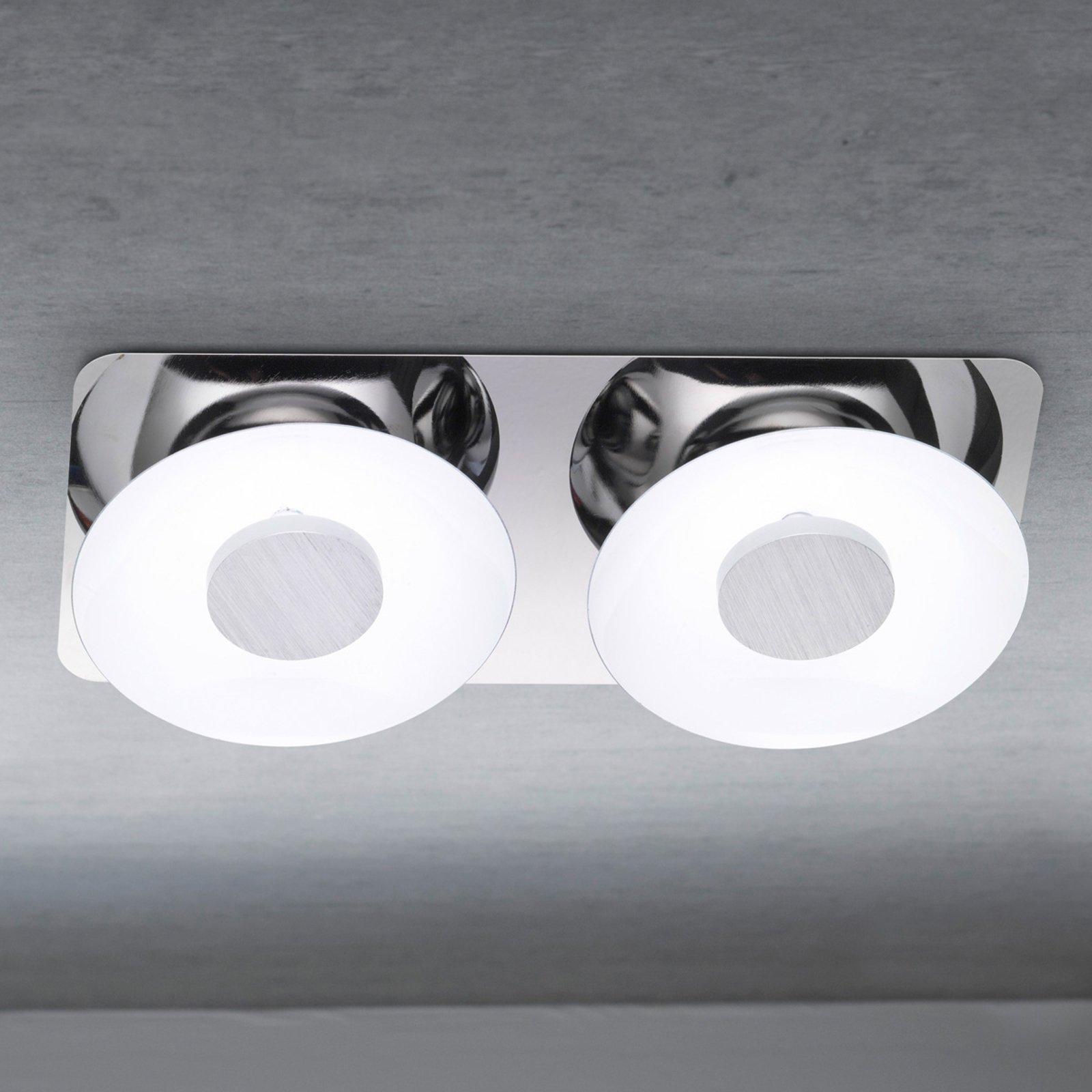 Nydelig taklampe Wanja med 2 LED-lys