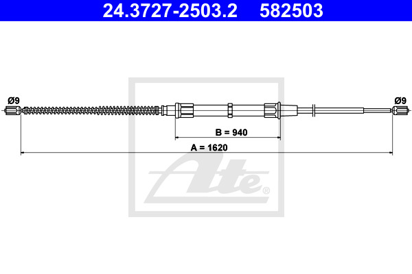Käsijarruvaijeri ATE 24.3727-2503.2